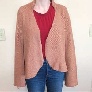 Anthropologie Sparrow Red Stripe Open Cardigan